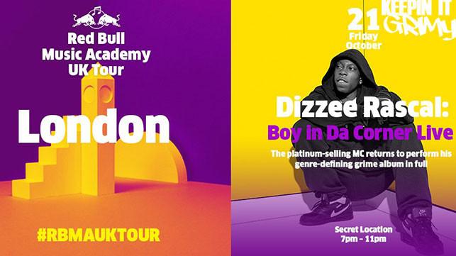 Dizzee announces Boy In Da Corner performance with Red Bull Music Academy!