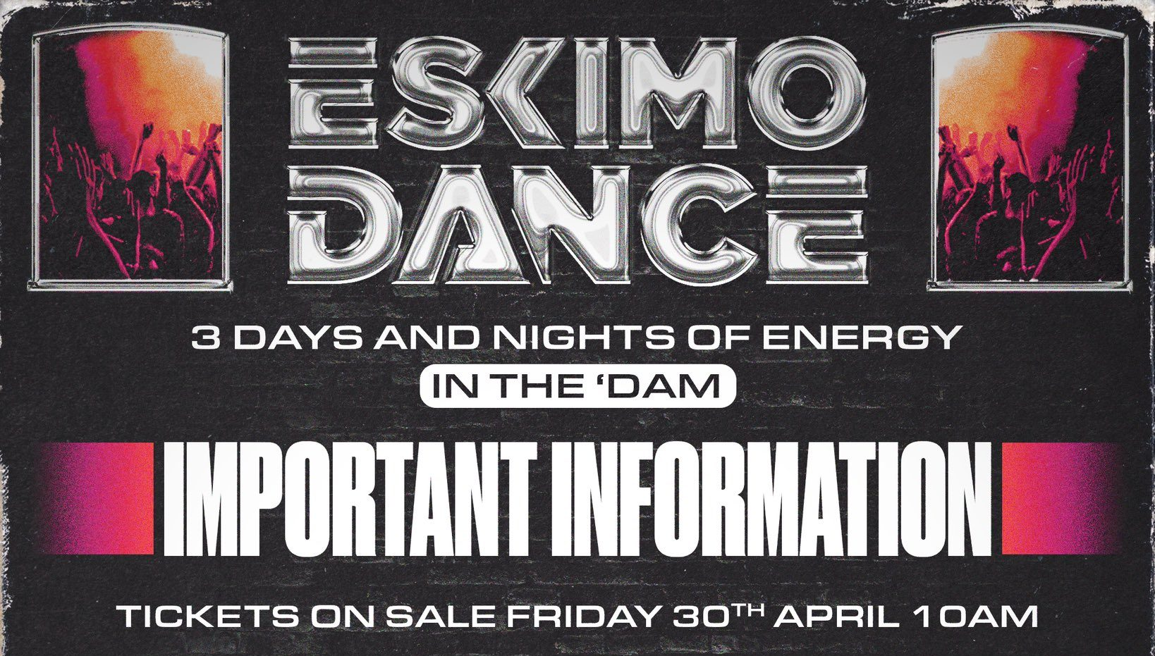 Eskimo Dance reveal 3 day event line up for Amsterdam in November